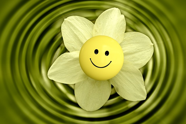 スマイリーと花