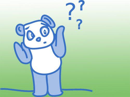 疑問を持つパンダ