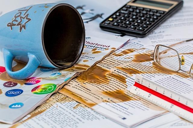 失敗!コーヒーをこぼす