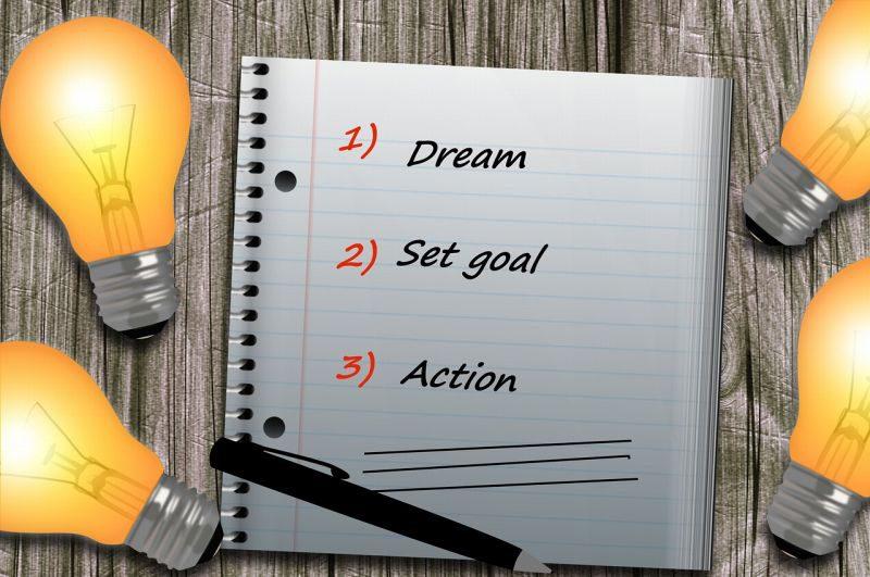 ノートに書いた目標