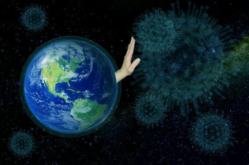 コロナウイルスの侵入を阻止する地球